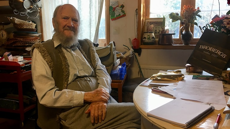 Svend Howard Höst på hans hundraårsdag.