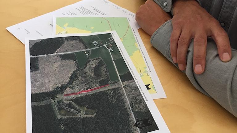 Flygfotot över Idån visar att dammarna är fulla.