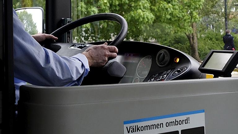 Busschaufför. Foto: Hasse Holmberg/TT