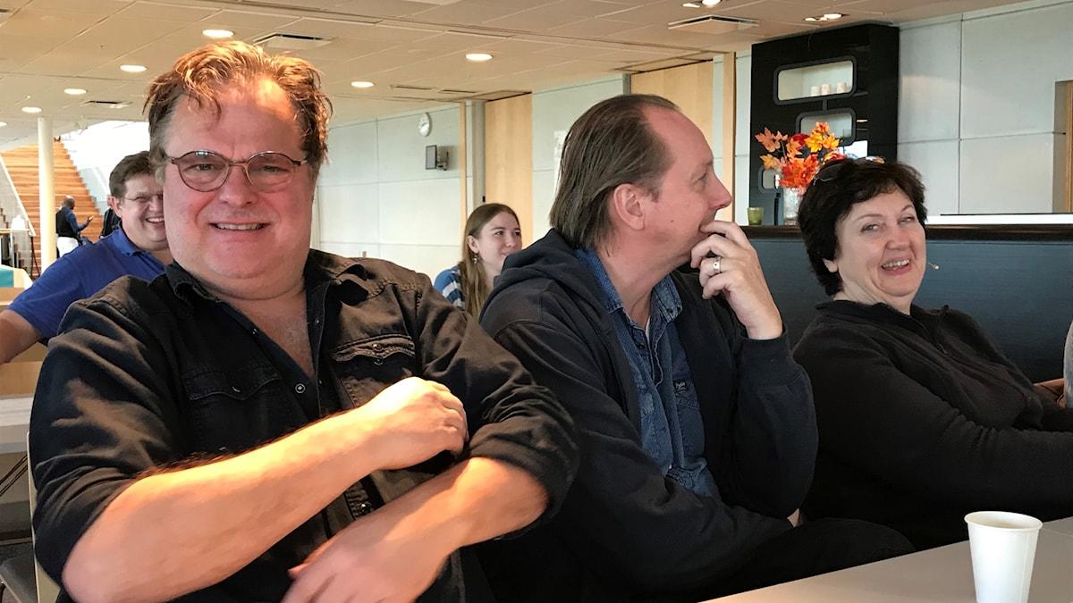 Jan Åström, Andreas Nilsson och Babben Larsson