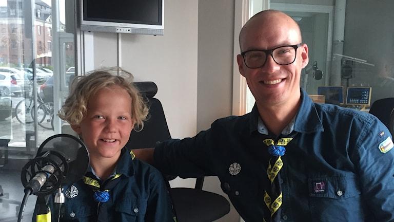 Oskar Von Shulman med sin far Calle Von Shulman