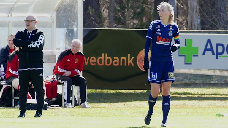 Ejla Lillro, lagkapten i P18. Foto: Eva Didriksson/Sveriges Radio