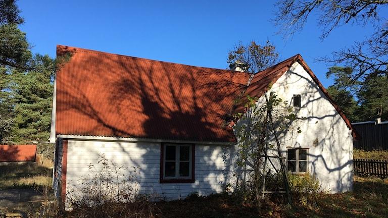 Hus vid Stenkumla Källgårds som försvaret vill riva
