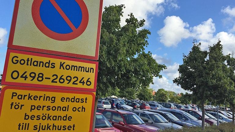 parkering Visby lasarett