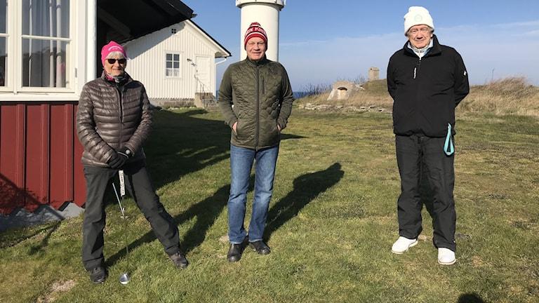 Golfare på Visby golfklubb.