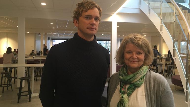 Magnus Thorell, lärare svenska, musik och Therese Sjögren,lärare juridik, samhälle, historia