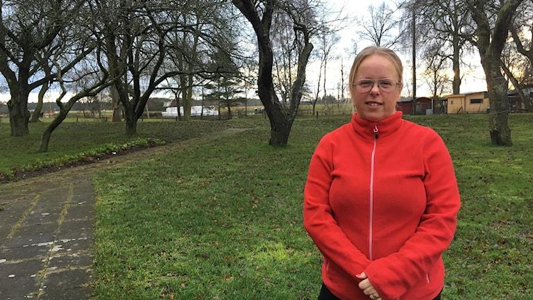 Lillian Petterson, volontär på flyktingboendet i Klintehamn.