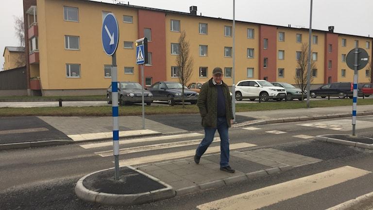 Lennart Klintbom, Trafikingenjör på nya refugen. Foto:Katarina Hedström Sveriges Radio