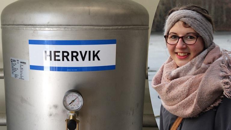 Sophia Speckhahn har skrivit en masteruppsats om beslutsprocessen bakom avsaltningsverket i Herrvik.