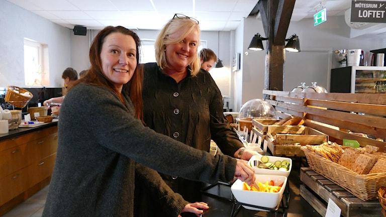 Jeanette Jussila och Carina Hammander på Scandic hotel Visby