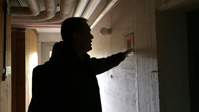 Kjell Lydänge i skyddsrum