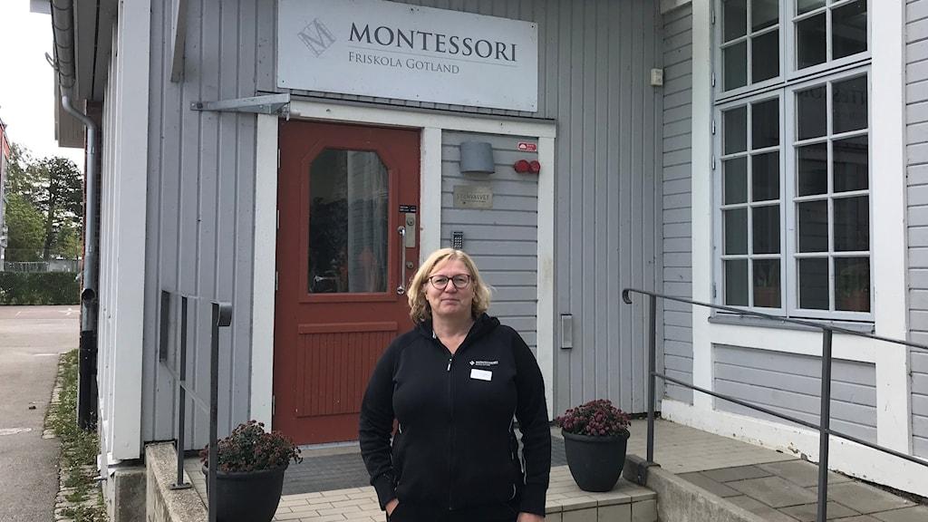 Tina Örnberg rektor Montessori Frsikola Gotland.