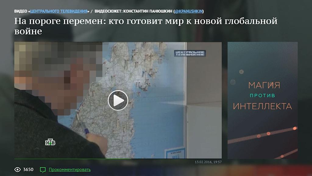 Tjänstemannen på Länsstyrelsen i ryska NTV.