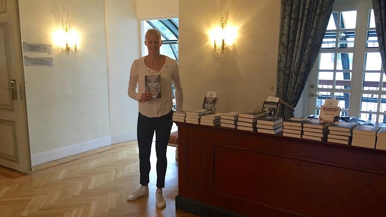 Carolina Klüfts föreläser om läsning under bokens dag