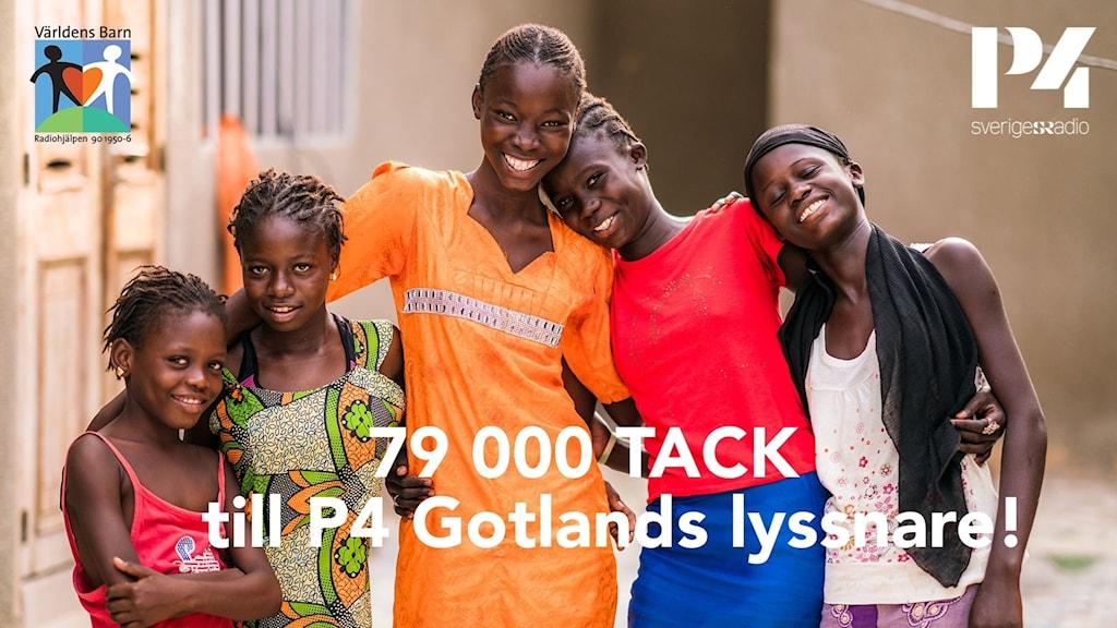 79 000 tack till P4 Gotlands lyssnare världens barn