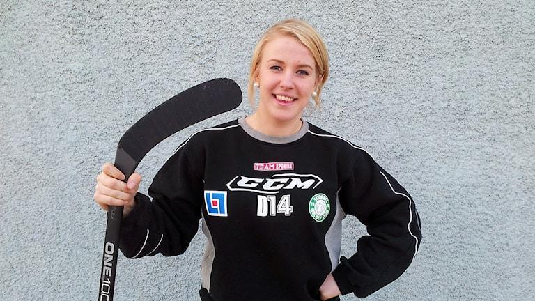 Hanna Rylander från Stånga när hon 2013 spelade i Modos juniorlag.