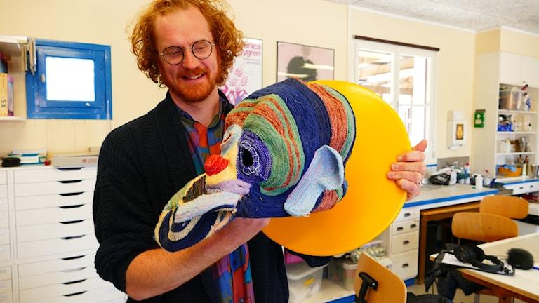 Martin Ridne, textil- och fotoutställning Hemse folkhögskola