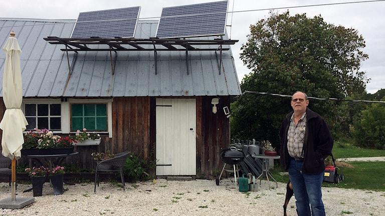 Max Gauffin har egna solceller