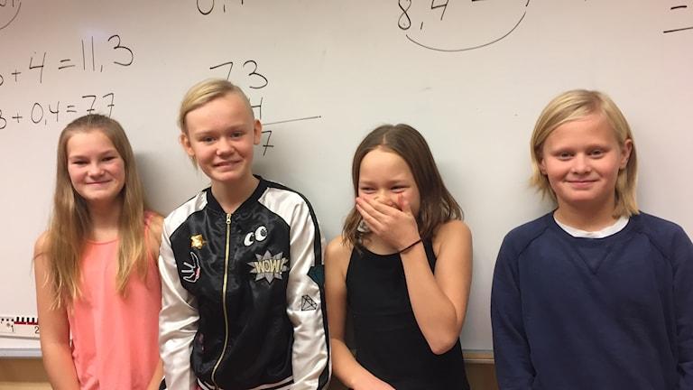 Elever på Solbergaskolan