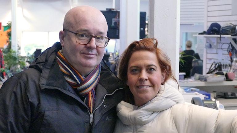 Frida Domnauer, driver Lindgården och Magnus Larsson, VD för Mc Donalds Visby och ordförande i Gotlandskrögarföreningen