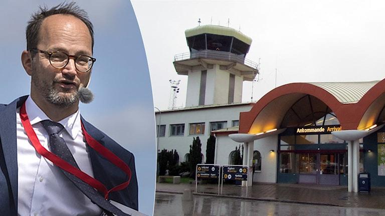 Thomas Eneroth och Visby flygplats