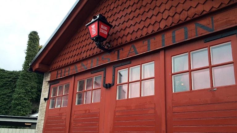 Gamla brandstationen vid Klinttorget i Visby