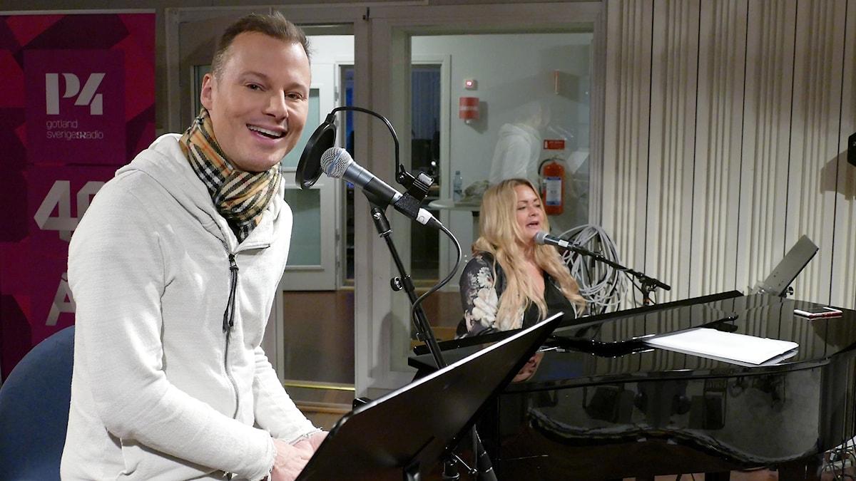 Magnus Carlsson och Lisa Ljungberg