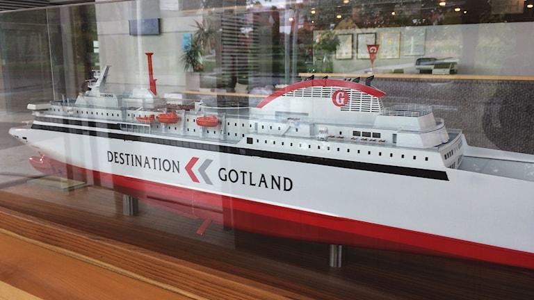 Gotlandsbolagets nya färja som kan drivas på flytande naturgas LNG
