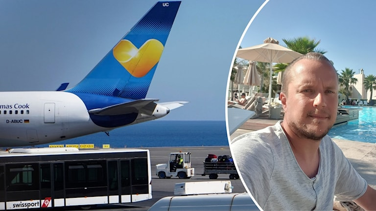 Fredrik Åkesson, Rone, strandad på Kreta efter Thomas Cooks konkurs.