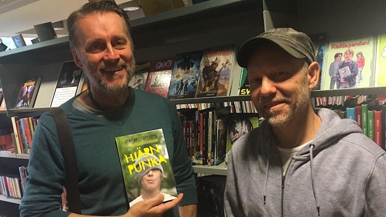 Författare Staffan Cederborg och länsteaterchef Thomas Sundström