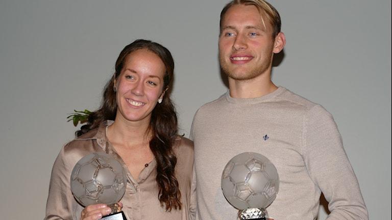 Camilla Ronström och Villiam Dahlström. Foto: Owe Järlö/Sveriges Radio