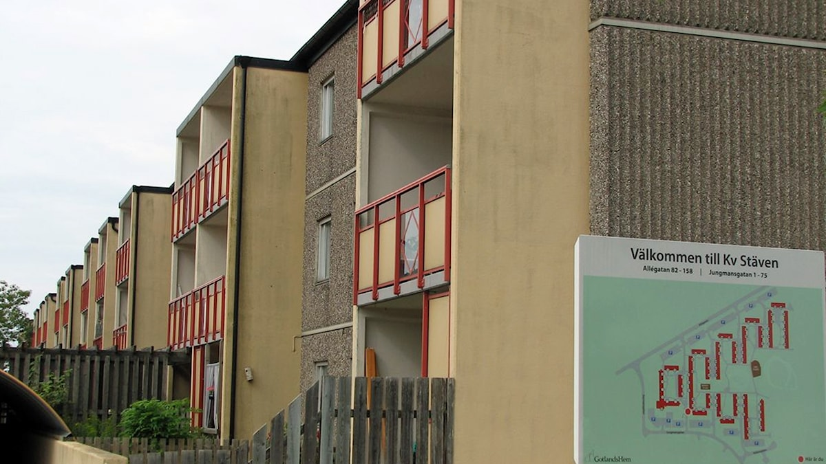 Bostadshus i kvarteret Stäven på Gråbo i Visby.