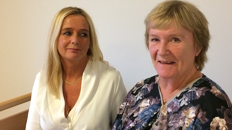 Anneli Hallin och hennes mamma Birgitta Andersson