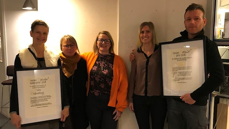 Kerstin Rosenkvist, Mosa-Hanna Caspers, Ann Ringbom, Camilla Callerstad och Mikael Lind var årets pristagare.