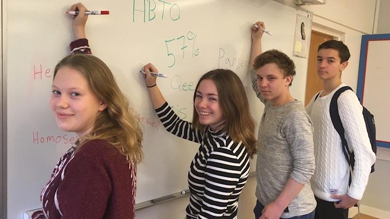 Elever Södervärn Rebecca Karlsson Cajsa Hellmin Melwin Havdell Edin Avdic