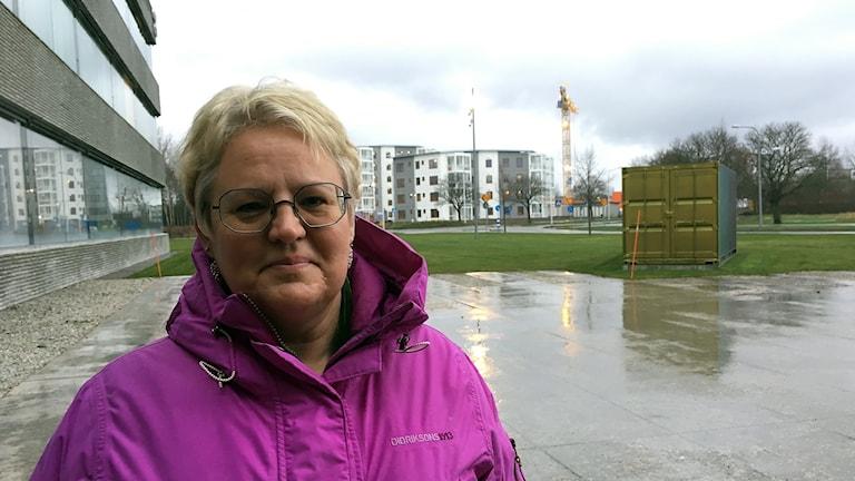 Arkeolog Malin Blomqvist på Riksantikvarieämbetet i Visby.