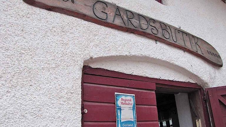 Gårdsbutik Stenhuse i Sanda.
