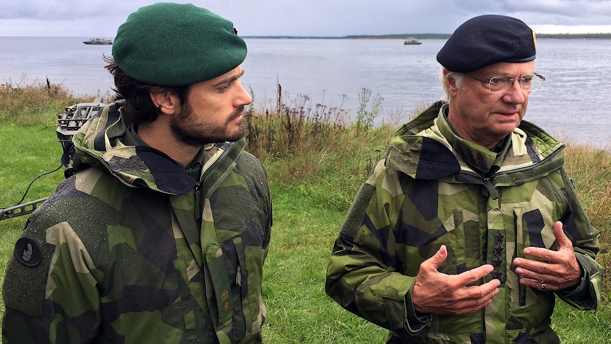 Prins Carl-Philip och kung Carl XVI Gustaf
