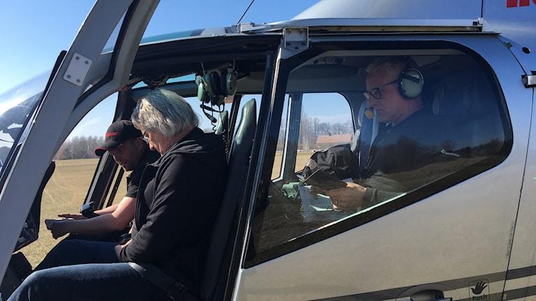 Helikopter hjälper skogsstyrelsen