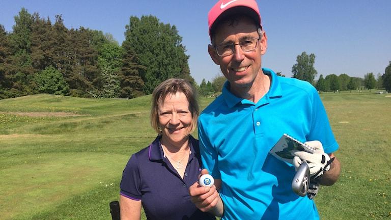 Golfare Lars Lindholm och Anne Lindholm