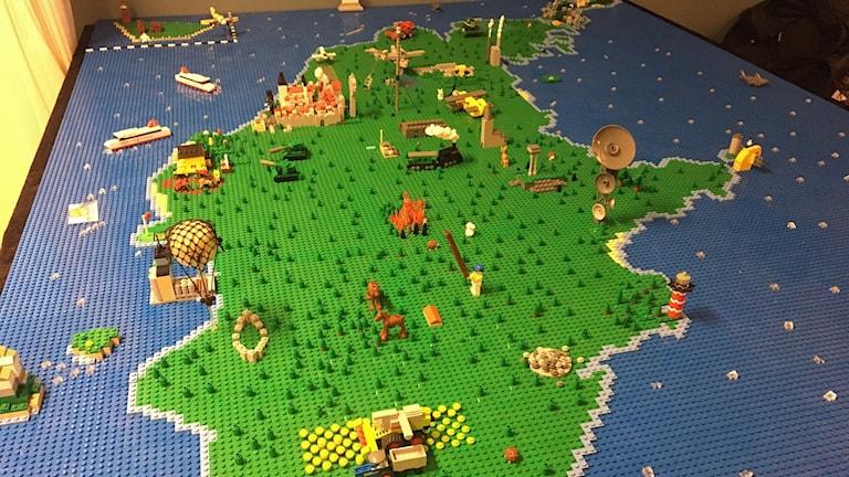 Gotland i lego, byggd av Petter Åkesson och Mattias Wahlgren.