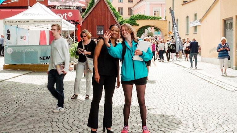 Bild från filmen Almedalen - En bra vecka för demokratin.