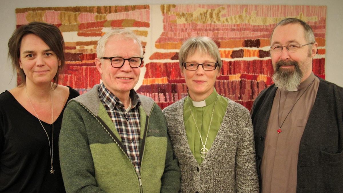 Ingela Wall, Anders Axelsson, Karin Nordfeldt Hansson och Lars Segerstedt medverkar i gudstjänsten.
