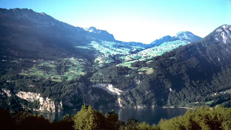 Schweiz landskapsbild. Foto: I Thörnqvist.