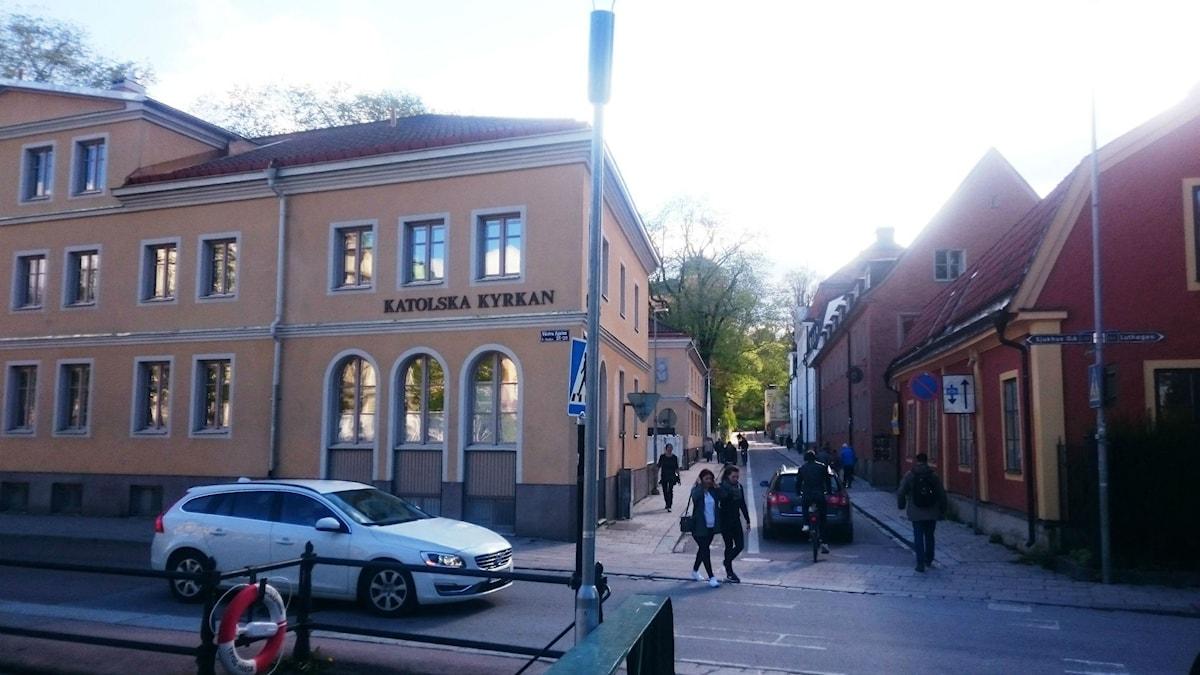 St Lars Katolska Församling ligger mitt i Uppsala Centrum. Foto: Katarina Josephsson.