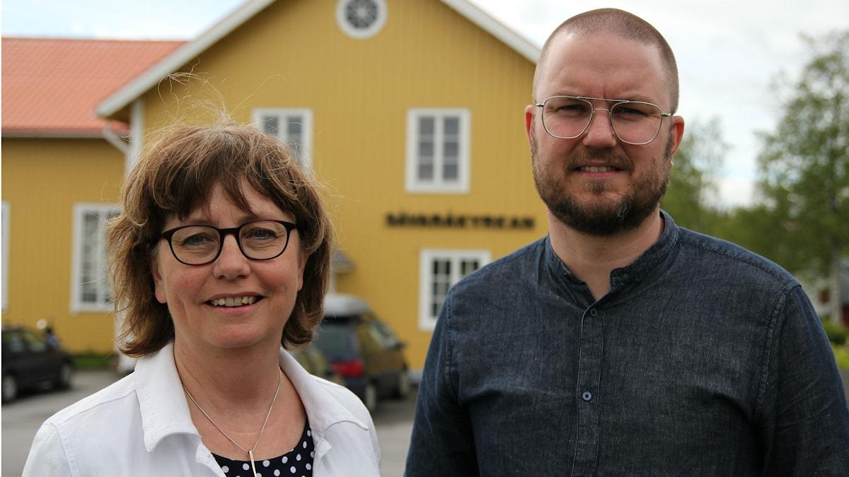 Pastor André Jakobsson och Kristina Lämås. Foto: Helena Andersson/Moskit media.