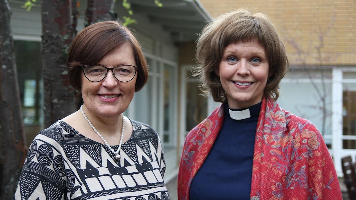 Mariann Lestander och Linda Vikdahl. Foto: Helena Andersson.