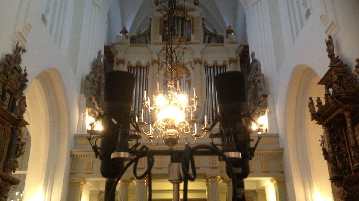 Orgeln i St Petri kyrka. Foto: Agneta Nordin.