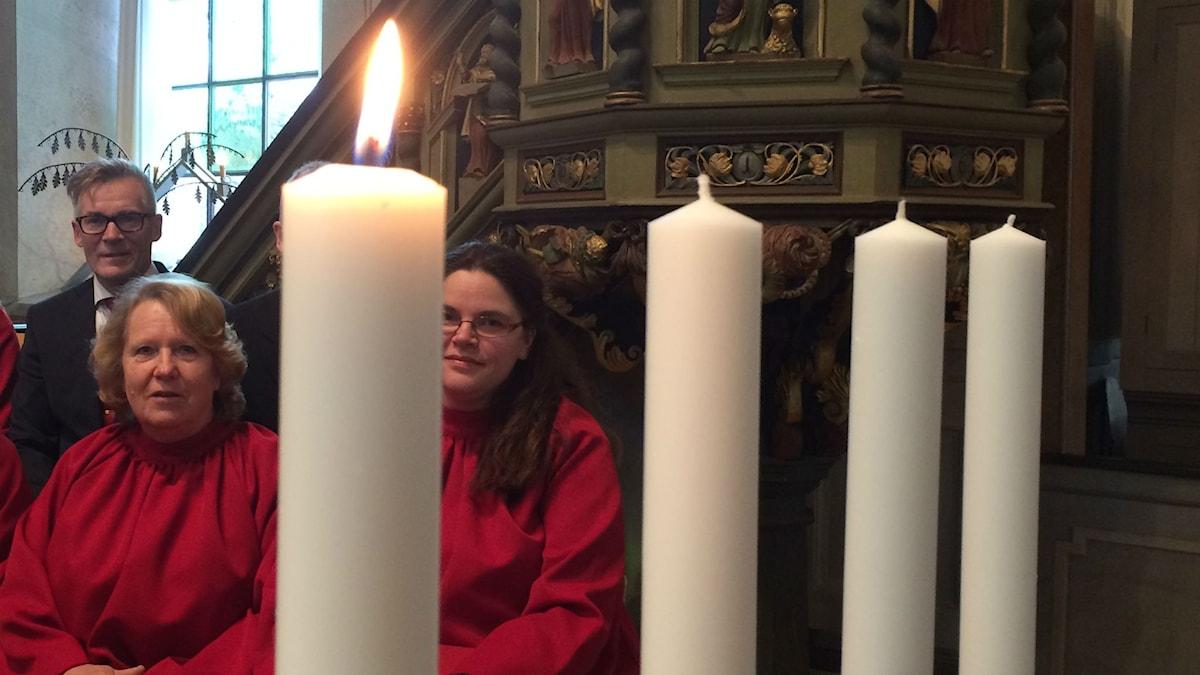 Eksjö kyrka första advent. Foto: Karin Malmsten/Sveriges Radio.