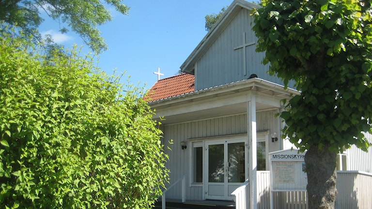 Johannebergs Equmeniakyrka sommartid. Foto: Carl-Johan Martinius.